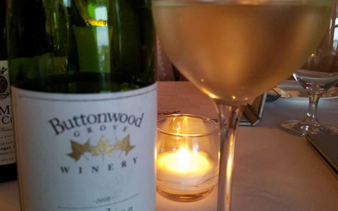 Tasting Buttonwood Grove's Governor's Cup Riesling