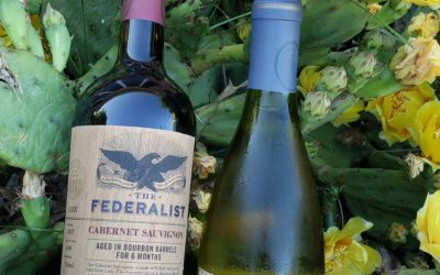 The Federalist Chardonnary & Bourbon Barrel Aged Cabernet Perfect for Surf and Turf