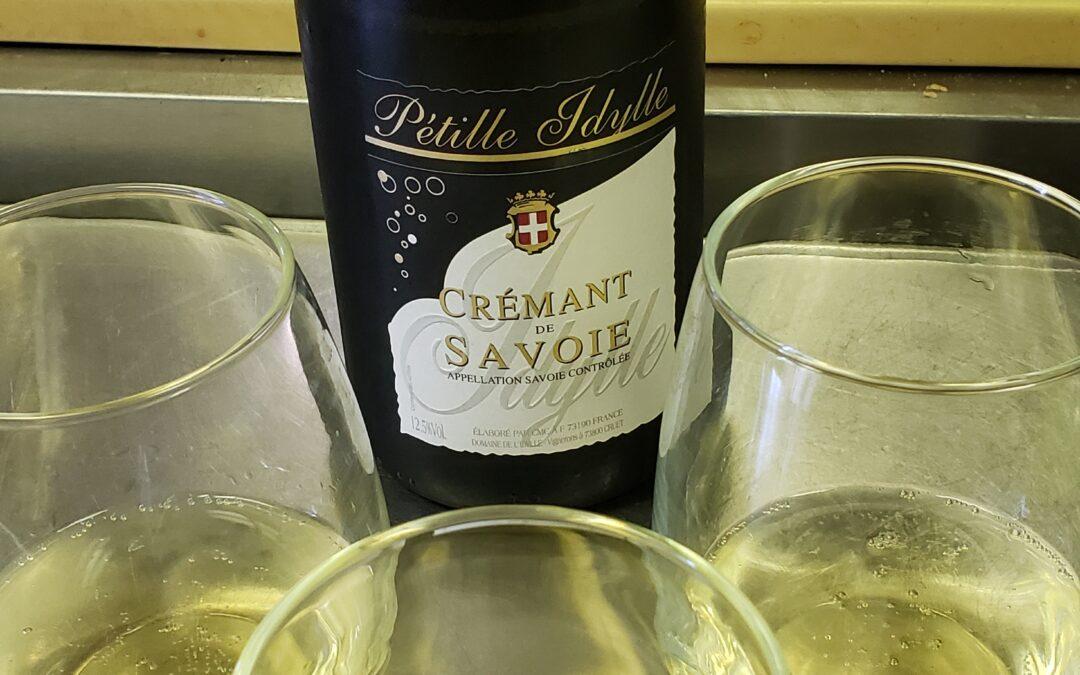 "Kitchen Wine: Domaine de I'Idylle  Cremant of Savoie ""Petille ldylle"""